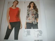 BURDA 6580 SEWING PATTERN MISSES' PLEAT TUCK BLOUSE SIZE 8 TO 18   UC