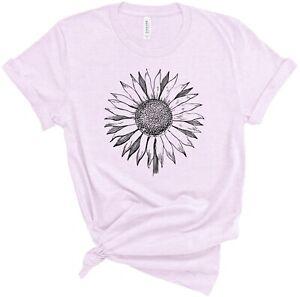 Sunflower Shirt Super Soft T Shirt Sun Flower Inspirational Positive Saying tee