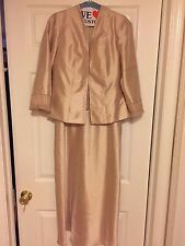 GOLD FORMAL DRESS + JACKET CRYSTALS SEQUINES & MORE BY KM COLLECTIONS FORMAL 8