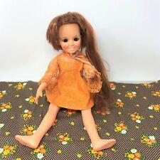 Vintage 1969 Ideal CRISSY Doll Growing Hair Works Original Orange Dress