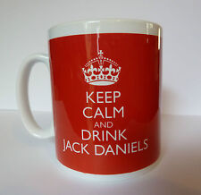 Keep Calm and Drink Jack Daniels Gift Present Mug Carry On Cool Retro Gift Cup