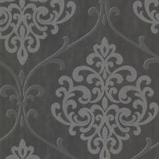 Ornament Vliestapete Rasch Textil FD 20718 / Schwarz Silber Barock / 8,07 €/qm