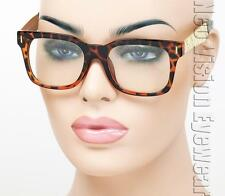 Metal Temple Marijuana Wayfarer Sunglasses Clear Lens Gold Tortoise T11 CL