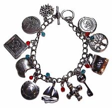 Once Upon a Time Silvertone Metal Charm Bracelet