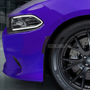 Fits 2015+ Charger Front Reflector Dark Tint Overlay Kit Dodge Smoke Side Marker