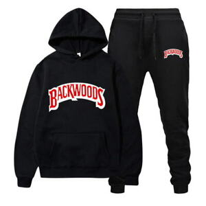 Backwoods Hooded Track Suits Men's / Male Set Sweatshirt & Pant Warm Casual Gift