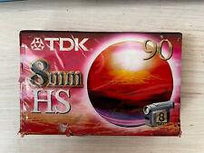 TDK 8mm HS90 PAL/SECAM Camcorder tape NEW Sealed