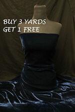 Teal Velvet Velour Lycra Spandex 4 Way Stretch dress crafts fabric material