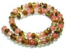 6x10mm,facettes,rondeau,la pastèque,la tourmaline,pierres précieuses,perles,38cm