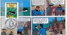 """FDC BELGIQUE """"100 ans Hergé - TINTIN Trésor de Rackham le Rouge"""" 2007 (TYPE 10)"""