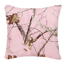 Realtree Pink Camo Decorative Bedding Pillow, Camouflage