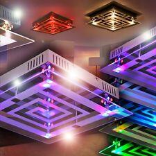 Led ceiling lighting colour changer remote living dining room lamp glass 144114