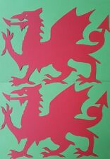 Welsh Dragon Shapes x 5 Large