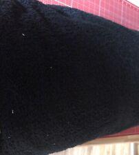 Frottee / Handtuch Stoff Meterware schwarz