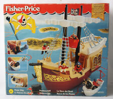 VERY RARE VINTAGE 1995 FISHER PRICE PIRATE SHIP GREAT ADVENTURES NEW SEALED !