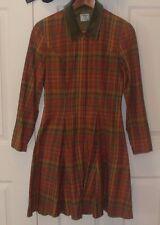 Laura Ashley Sz US 6/UK 10 Plaid Cotton 80%/Wool 20% Blend Short Women's Dress