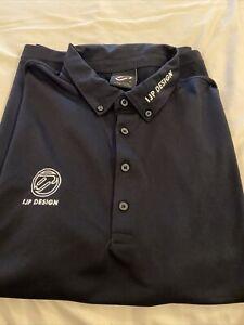 IJP Design Black Golf Polo XL