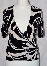 PHASE EIGHT UK Size 12 Black Beige Floral Bolero Wrap Summer Evening Pretty *VGC