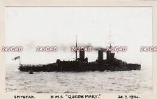"Unique Royal Navy Real Photo. HMS ""Queen Mary"" Battlecruiser. At Spithead. 1914"