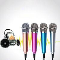 Mini 3.5mm Jack Wired Condenser Microphone Karaoke Mic For Cell Phone Laptop