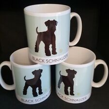 More details for black schnauzer mug & coaster by betty boyns new design great gift