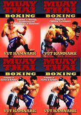4 Dvd Set Muay Thai Boxing Fighting Techniques combos counters Dvd Vut Kamnark