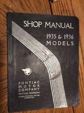 1935 And 1936 Pontiac Shop Manual
