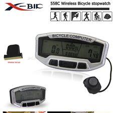 Inalámbrico LCD Digital BICI Ciclismo Bicicleta Computadora Velocímetro Odómetro