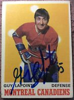 1970-71 OPC #177 GUY LAPOINTE SIGNED ROOKIE~Beautiful CARD!~ **NM CONDITION**