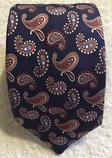 Fine NEW & LINGWOOD Italian-made Paisley pure silk tie In excellent condition