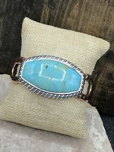 Barse Nuance Cuff Bracelet-- Mixed Metals & Turquoise- NWT