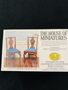 NIB THE HOUSE OF MINIATURES Doll House Cabriole Leg Chippendale Chair Set Kit
