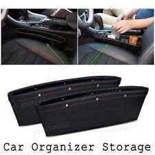 2x PU Leather Catcher Box Car Seat Gap Slit Pocket Storage Organizer Fit Honda