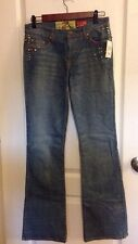 27 NWT $295 7 SEVEN FOR ALL MANKIND The Great China Wall RHINESTONE Bootcut Jean