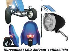 LED Lichtset Kurvenlicht  2xVorne 1xRücklicht  für Berg Gokart XL