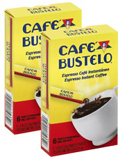 Cafe Bustelo Espresso Instant Coffee Single Serve Packets x 2