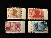 Ungarn 1944 - MiNr. 749 - 752   Rotes Kreuz, mit Seitenrand