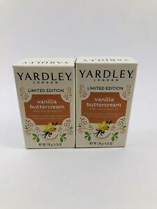 2X Yardley London Limited Edition Soap Vanilla Buttercream Soap 4.25 oz each