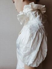 Alexander McQueen Ivory Silk Blouse Victorian Style Collar Puffed Sleeves | XS