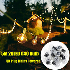 LED Fairy String Lights Party In/Outdoor Warm White Xmas Wedding Mains Plug In