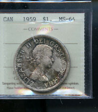 1959 Canada Silver Dollar ICCS Certified MS64  DCB61