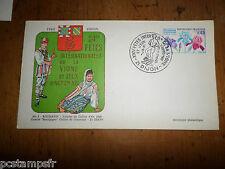 FRANCE 1969, FDC 1° JOUR, FETE VIGNE, FLORALIES, LAUREAT ROUMANIE, timbre 1597