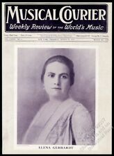 1922 Elena Gerhardt photo Musical Courier framing cover