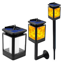 US LED Solar Torch Dancing Flickering Flame Light Outdoor Garden Waterproof Lamp