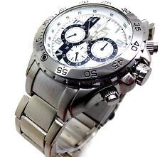 Reloj de Pulsera 194S Hombre Nuevo Moda Deportivo Banda de acero inoxidable con Cuadrante a Cuarzo Blanco