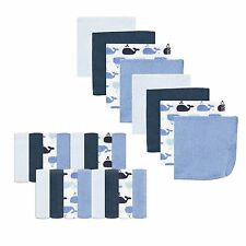 "Luvable Friends 24 Pieces Baby Boys Washcloths 9 X 9"" Whale New"