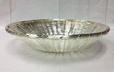 "D J ONEIDA EUROPA SILVERPLATE ROUND WOVEN BREAD BASKET / BOWL 9 1/2"" NEW"