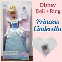 "Disney Parks Princess Cinderella Classic 11.5"" Dolls With Rings"