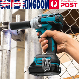 """520nm Electric Cordless 18V Impact Wrench 1/2"""" Brushless Driver w/ Battery"""