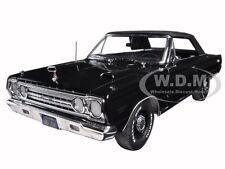 1967 PLYMOUTH BELVEDERE GTX CONVERTIBLE BLACK 1/18 DIECAST CAR GREENLIGHT 19007